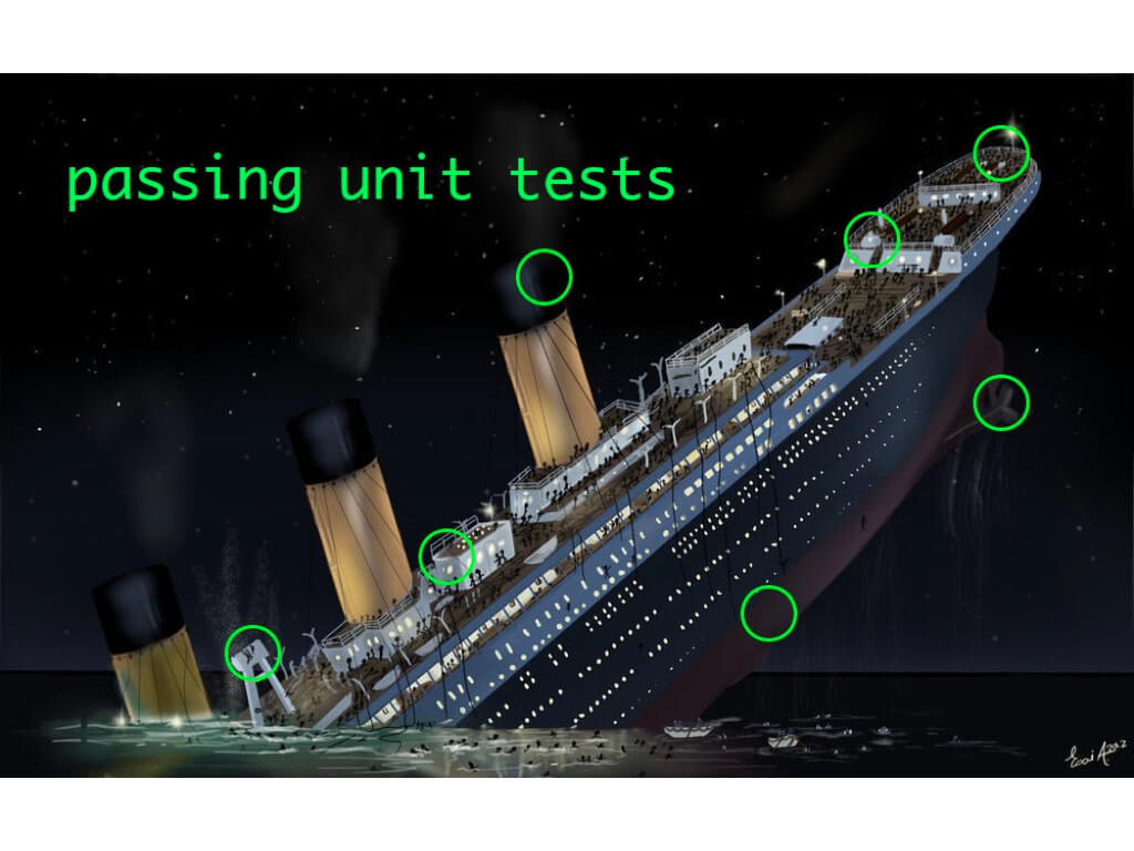 Sinking ship with passing unit tests