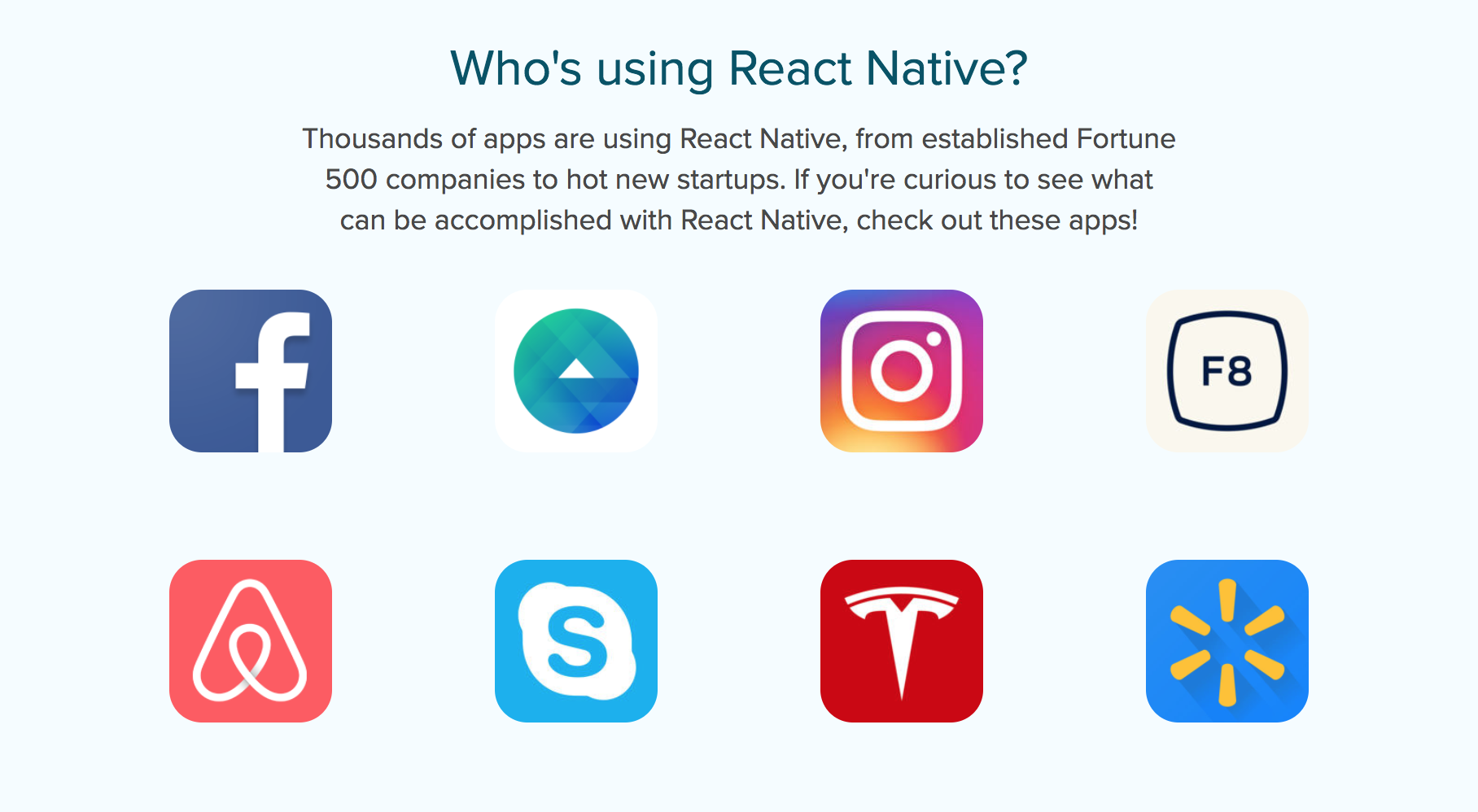 who is using react native