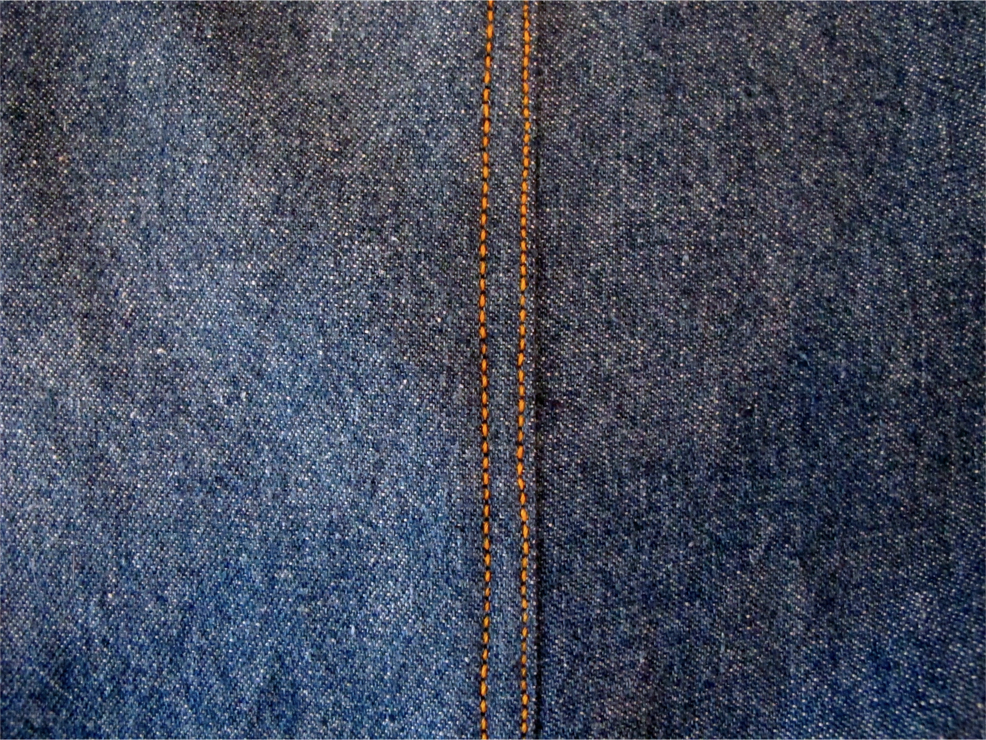 a seam in jeans pant leg